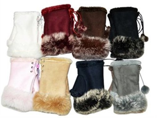 OPT® Brand. 12 Pairs Leather Palm Gloves With Fur Trim Wholesale Lot. Free Shipping From New York. USA Trademark Registered Code: 86522969. (Mark New York Leather compare prices)