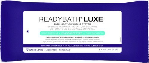 Medline Readybath Luxe 8 X 8 Inch Total Body Cleansing Cloths In Antibacterial Fragrance Free - 8 Per Pack / Pack... front-555251
