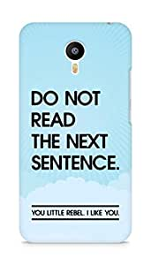 AMEZ do not read the next sentence i like you Back Cover For Meizum 2 Note