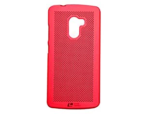 Loopee Hollow Mesh Ultra Slim Fit Back Case Cover For Lenovo K4 Note (Red)