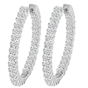 4.20 Round Diamond Large Earrings