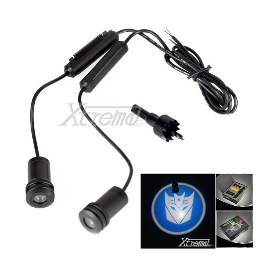 Xtreme® 5W 4Th Generation 2X Led Car Door Laser Projector Ghost Shadow Step Light Logo For Transformers Decepticons