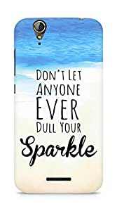 AMEZ dont let anyone dull your sparkle Back Cover For Acer Z630S