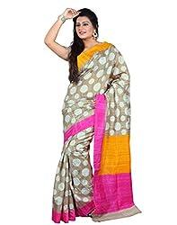 SareeShop Women's Saree with Blouse Piece Saree (Bhagalpuri20906_MultiColored _Free Size)