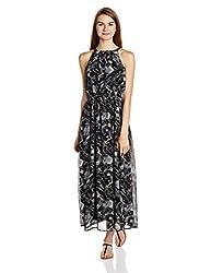 People Women's A-Line Dress (P20402065859100_Black_Large)