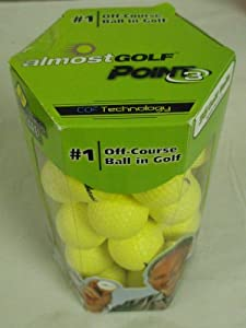 Almost Point3 36 Golf Balls (YELLOW) Restricted Flight Practice Balls NEW by Almost