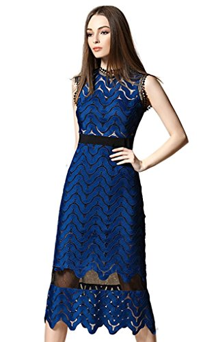 Tuliplazza-Women-Zigzag-Tunic-Sheath-Cocktail-Prom-Party-Gowns-Midi-Lace-Dress