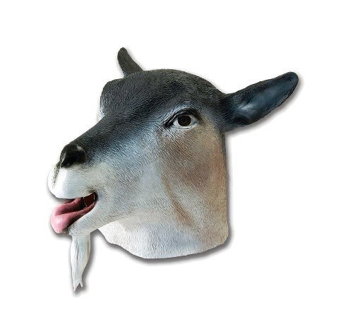 Goat Animal Farm Overhead Rubber Adult Fancy Dress Mask