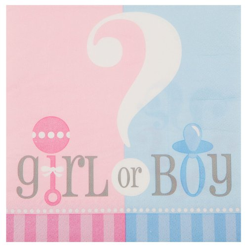 20 Count Gender Reveal Luncheon Napkins front-463445