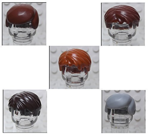 NEW! LEGO BULK LOT OF 5 DIFFERENT MALE MAN BOY MINIFIGURE MINIFIG HAIRS