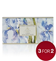 3 Floral Collection Iris Soaps Set