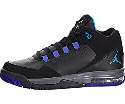 Nike Jordan Kids Jordan Flight Origin 2 BG Blk/Lgn-DarkGry/Brght Cncrd Basketball Shoe 4 Kids US