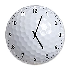 der golf ball weiss designer wanduhr uhr 34cm ideal f r schlafzimmer k che b ro. Black Bedroom Furniture Sets. Home Design Ideas