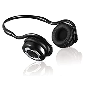 JUSTOP Bluetooth Stereo Headphones / Headset With Built-in MIC, Bluetooth V2.1+EDR Supports A2DP, Noise Cancellation, Up to 20 Hours Play Time, Handsfree Feature for mobiles, for use with Apple iTouch, iPad, iPhone, HTC, Samsung Galaxy etc.