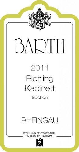 2011 Barth Riesling Kabinett Trocken - Dry 750 Ml