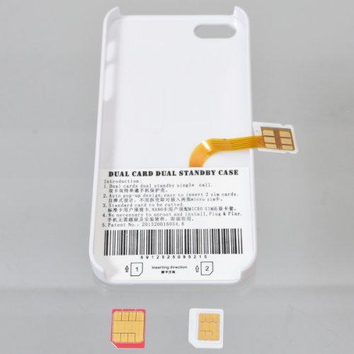 サンコ- iPhone5用2SIM搭載アダプタケース IP52SIM8