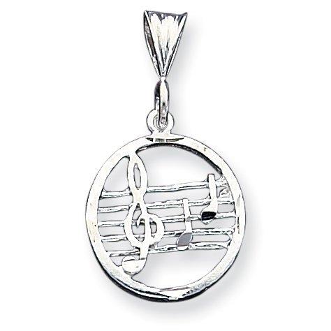 PriceRock Sterling Silver Music Staff Charm