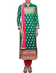 Kalki Fashion Green Straight Fit Outfit Enhanced In Zari And Cut Work Embroidery Only On Kalki
