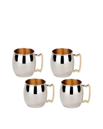 Old Dutch Set of 4 Polished 16-Oz. Moscow Mule Mugs
