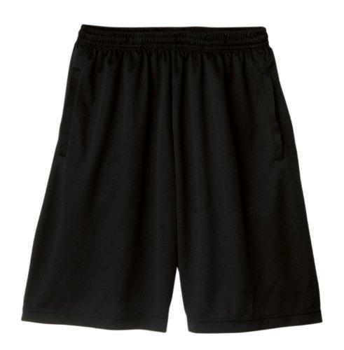 一线) 一线 ドライハーフ 裤子 [UV 切和吸收汗水干燥] [150 厘米 ~ 5 L] 黑色 L