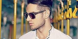 John Jacobs Jj 4417 Brown Wooden Brown c1 Wayfarer Sunglasses