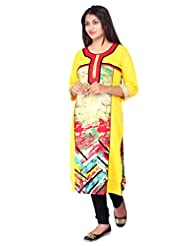 Desi Aura Straight Fit Long Fancy Cotton Printed Kurtis For Fashionable Women(Pack Of 1) - B017F8NIIK