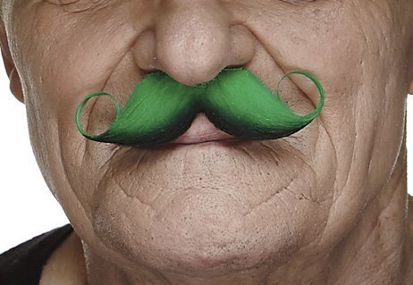 St. Patty's curly moustache