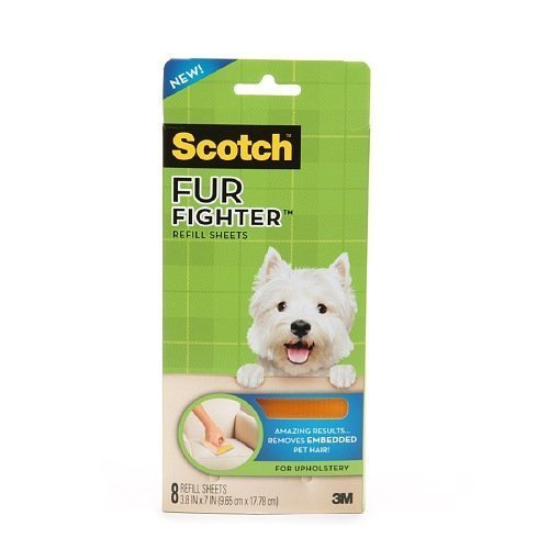 Scotch Fur Fighter Hair Removal Refill Sheets 8 ea(pack of 2)