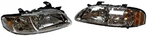 Nissan Sentra (CA, GXE, XE) Replacement Headlight Assembly (Chrome) - 1-Pair