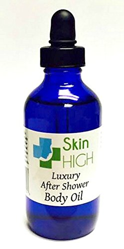 SkinHIGH Luxury After Shower Body Oil Amazing Results Use After Dry Skin Brush Helps Cellulite Reduction- Excellent Moisturizer For Dry Skin. Free E-Book For Amazing Skin Guaranteed Results Order Now!