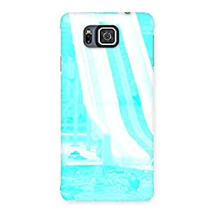 Special Ride Cyan White Back Case Cover for Galaxy Alpha