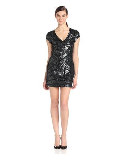 Parker Women's Isabel Cap-Sleeve V-Neck Beaded Dress