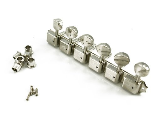 Kluson Sd91Mlnr 6 Lefty On-Plate Guitar Tuning Machines, Nickel