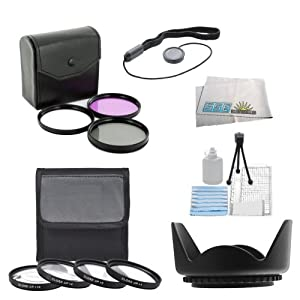 SSE 7PC 52mm Filter Set For the Nikon D3000 D3100 D3200 D3300 D5000 D5100 D5200 D5300 D90 D7000 D7100 D600 D610 D800 D800E DSLR Camera + MORE