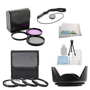 SSE 7PC 52mm Filter Set For the Nikon D3000 D3100 D3200 D3300 D5000 D5100 D5200 D5300 D5500 D90 D7000 D7100 D600 D610 D800 D800E DSLR Camera + MORE
