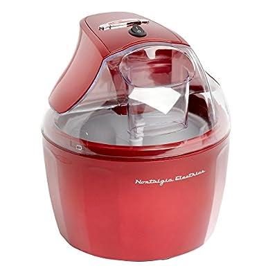Nostalgia Ice Cream Maker | Stainless Steel 1.5 Quart Ice Cream Makers, Red by Nostalgia