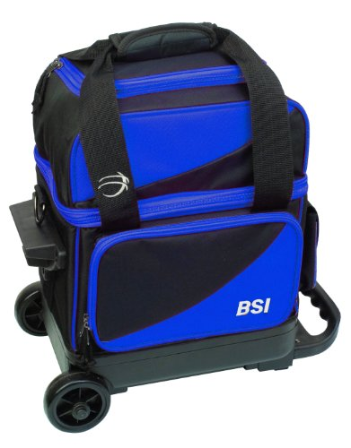 BSI Single Ball Roller Bowling Bag, Black/Blue