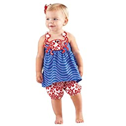 Mud Pie Baby-Girls Infant Crab Tank and Short Set (3T)
