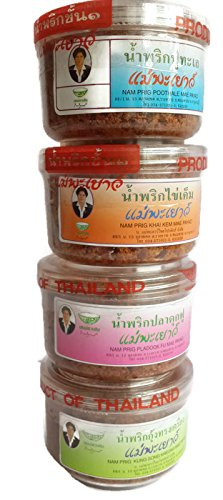 4 mix of Authentic Thai Chili Paste Set (Namprik) (2 Oz x 4) (Kikkoman Soya Sauce compare prices)
