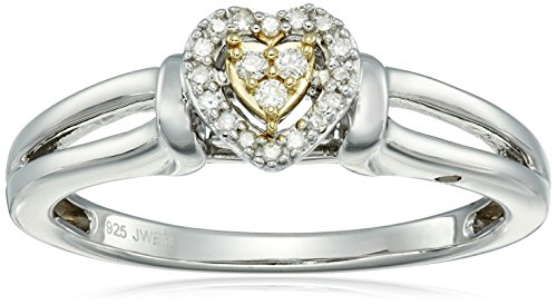 Yellow-Plating-Over-Sterling-Silver-with-Diamond-Promise-Ring-110cttw-I-J-Color-I2-I3-Clarity