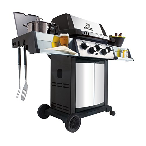 Broil-King-987844-Sovereign-90-Liquid-Propane-Gas-Grill-with-Side-Burner-and-Rear-Rotisserie