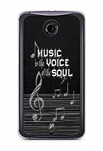 YuBingo Music is the Voice of your Soul Designer Mobile Case Back Cover for Google Nexus 6