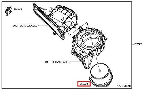 Infiniti 27225 Jk60e Hvac Blower Motor Faitzxapustina
