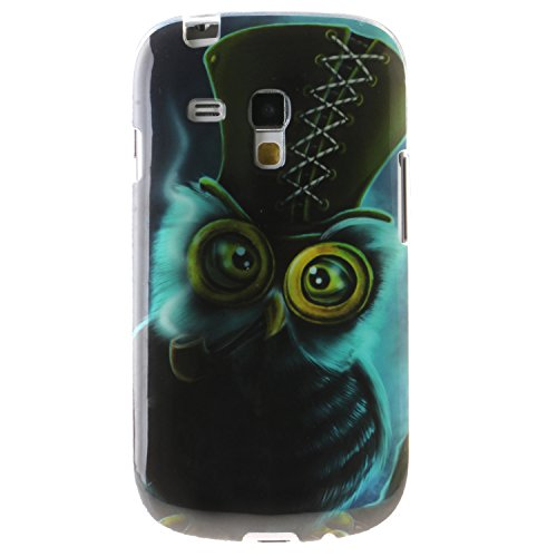 BONROY-PU-Leder-Schutzhlle-fr-Samsung-Galaxy-S3-Mini-i8190-I8200-case-Wallet-Schale-Tasche-Magnet-Silikon-Back-Cover-Etui-Skin-Shell-Purse-Handyhlle-Kontrast-farbe-Standfunktion-Kredit-Kartenfcher-Fol