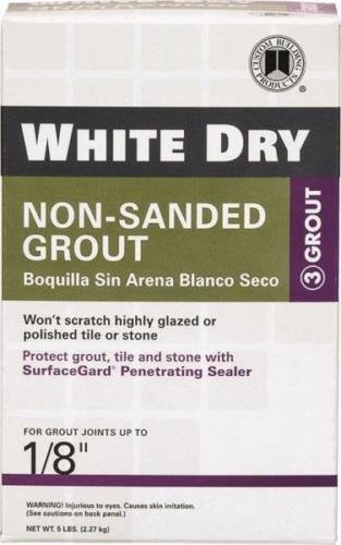 NEW CUSTOM BUILDING WDG5-4 5LB BOX WHITE DRY NON SANDED GROUT POWDER 6720312 (Grout Sponge Wringer compare prices)