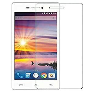 SNOOGG PACK OF 6 Lava A89 (White) Screen Protector, Premium Oil Resistant Coated Tempered Glass Screen Protector Film Guard Anti-explosion