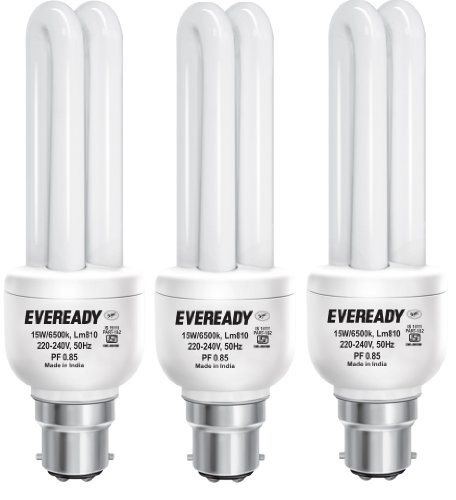 Eveready ELD 15W CFL Bulbs (White and Pack of 3) Image