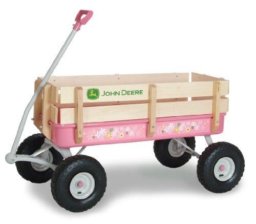 <b>John Deere Steel Stake Wagon Pink</b>
