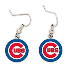 Buy Chicago Cubs Dangle Earrings by WinCraft by WinCraft