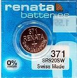 renata レナータ 371 1個 酸化銀ボタン電池(SR920SW)※スウォッチグループ/スイス製【正規国内代理店製品】